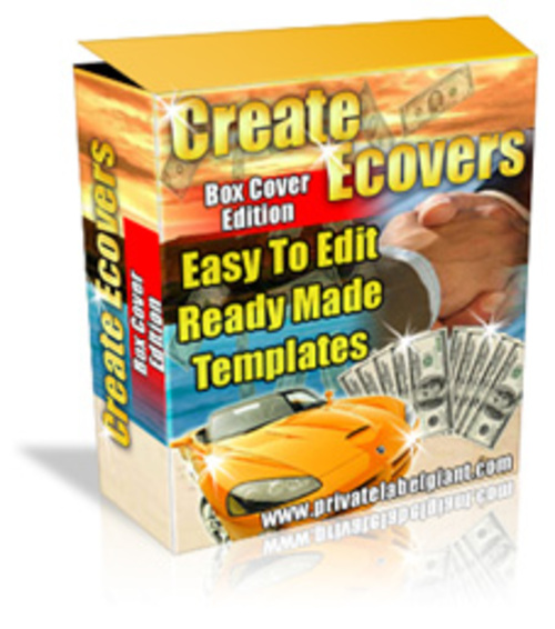 Product picture EZ Edit Software Box Templates W/PLR