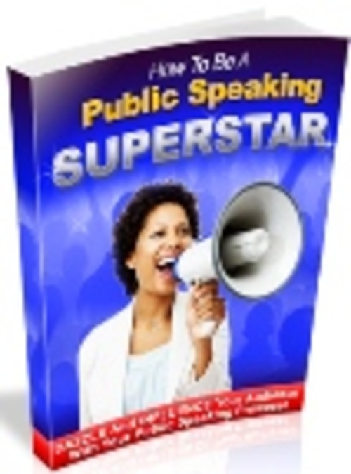 Product picture Public Speaking Superstar  Includes Master Resell Rights